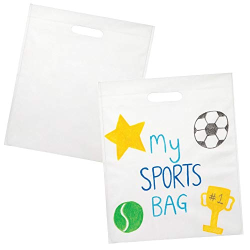 Baker Ross Design Your Own Canvas Bag Pack of 6 Creativity for Kids Craft Kits