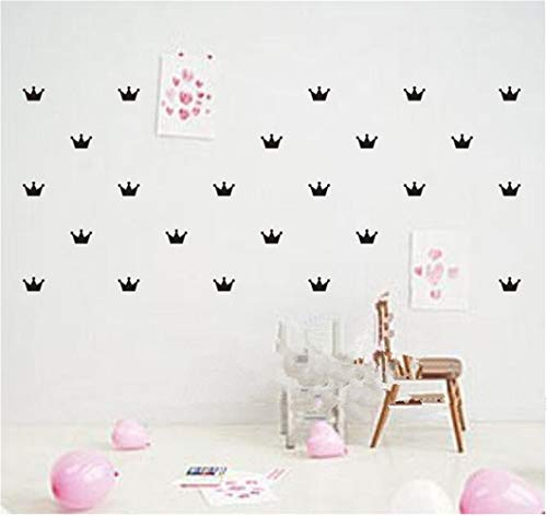 Nisou Removable Vinyl Wall Stickers Mural Decal Art Home Decor Kid's Bedroom Decorate Princess Baby Crown Pattern Paste Sticker for Kids