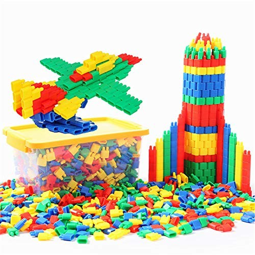Wooden Building Blocks Set 300 Piece Bag Classic The Bullet Toy Block Is For Children Safe Fun Creative Age 3 And Above Random Color Build & Play ToyPremium