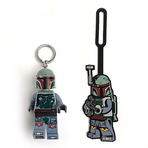 LEGO Star Wars Boba Fett Minifigure Key Light & Bag Tag Duo