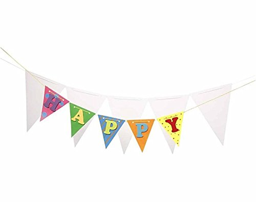 10 Plain White Bunting Card Shapes to Decorate Make Your Own