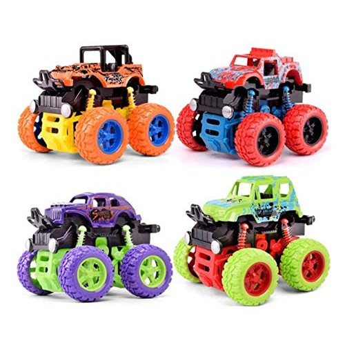 Allpdesky friction driven monster truck toy boy – push and go car vehicle truck