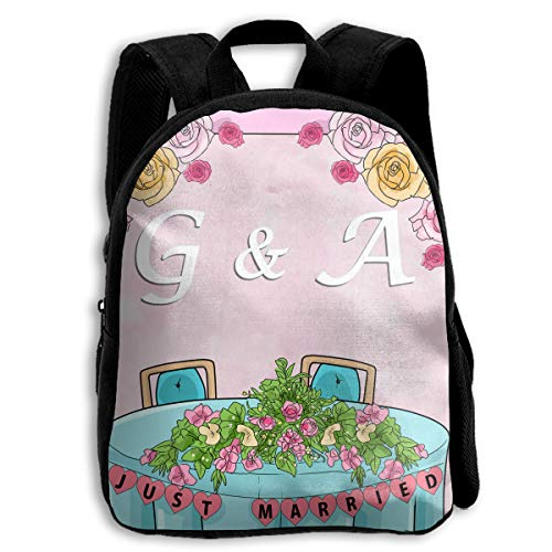 FIDALJF Decorate The Bride and Groom Table Children's Backpack Little Kid School Bag with Adjustable Shoulders Ergonomic Back Pad Perfect for Security Sporting Events