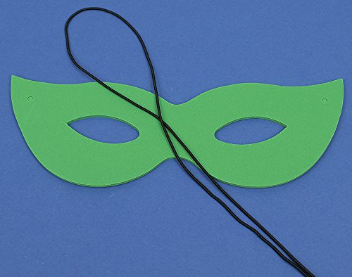 Single Green Foam Carnival Mask for Kids Crafts Masks to Decorate