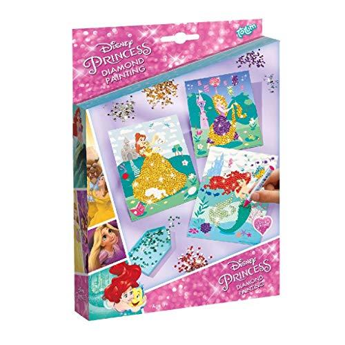 Totum 44227 Creative Kit Disney Diamond Painting-Decorate Your Princesses with Rhinestones Multi-Coloured
