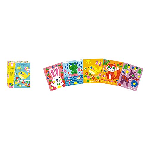Janod Crafts No Mess Glue Foam My First Animal Sticker Mosaic Picture Kit Creative Imaginative Inventive and Developmental Play — STEAM Approach to Learning Ages 3-8+