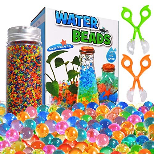 ANEY Water Beads Kits Rainbow Mix 30000 Growing Balls Jelly Gel for Spa Refill Kids Sensory Toys Vases Plant Wedding and Home Dcor Updated Package with 2 Scoops