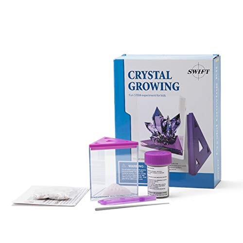 swift Kids' 5-Piece Purple Crystal Growing Kit Easy at-Home Chemistry Science Experiment for Children