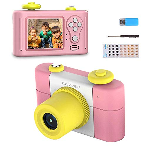 Kids Camera Toys for GirlsGifts Rechargeable Shockproof Cute Mini Boys Anti-Drop Children digital Video with Photo Frame