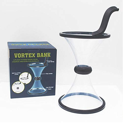 Babook -Vortex Piggy Bank Change Saving Wishing Well Watch Money Defy Gravity Physics with Coin in Motion