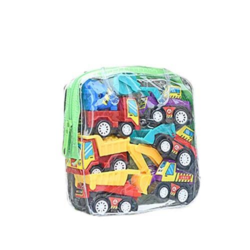 Elaco 6Pcs Car Toy Set Mini Toy Truck Race Car Toy Kit for Kids