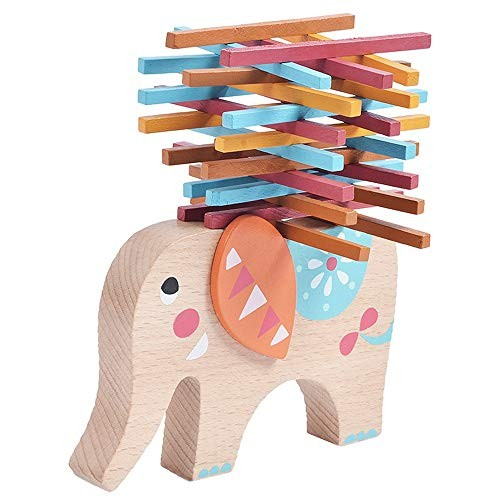 Children's Building Blocks Educational Early Education Wooden Color Bars Balance Beam Parent-Child Toy Elephant Enlightenment Toys