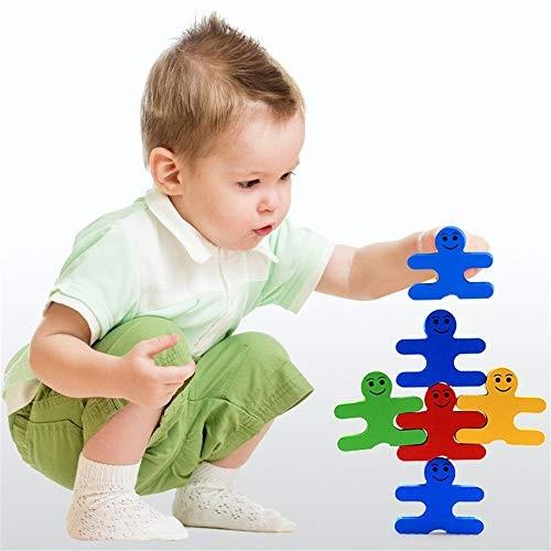 Children's Building Blocks Educational Early Education Wooden Cartoon Balance Villain Kindergarten Toys Enlightenment