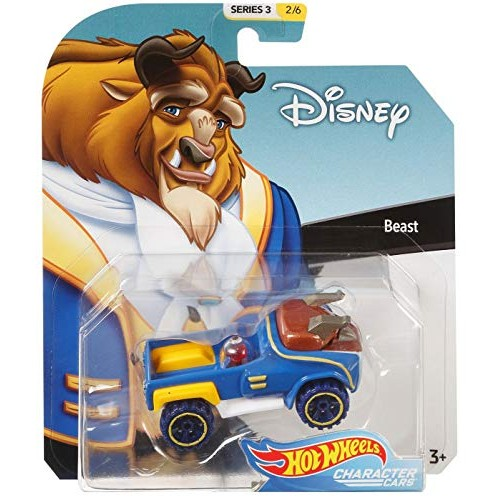 HW Pop Culture Beauty & The Beast Hot Wheels Disney Character Cars Diecast Car