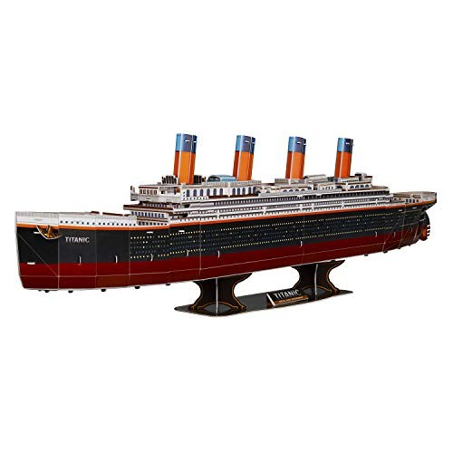 WISESTAR 322 L Large Titanic 3D Puzzles Model for Adults and Kids 116PCS Sinking Cruise Boat Ship Play Game Toy Craft Kits Educational Birthday Gift Boys Girls