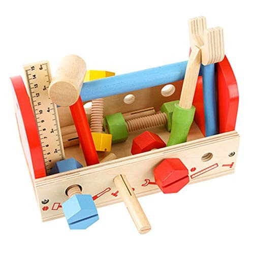 Children's Building Blocks Toolbox Game House Toy Set Repair Wooden Wood Intelligence Tool Box Enlightenment Educational Toys