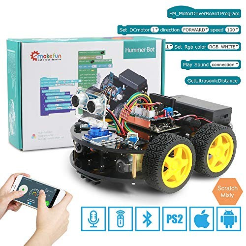 Emakefun Smart Robot Car Kit Robotics for Arduino IDERobot Building STEAM Education ToySupport Scratch DIY Coding Kids Teens Adults