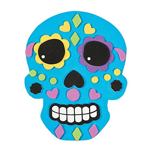 Do It Yourself Foam Sugar Skull Magnet Kit -24 – Crafts for Kids and Fun Home Activities