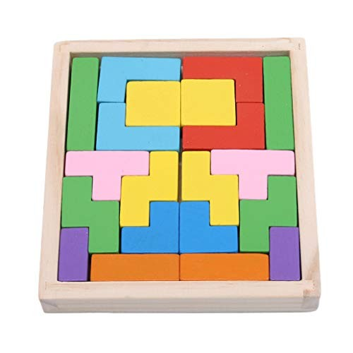 HAOWANG Color Wooden Puzzle Educational Toy Jigsaw Blocks DIY Brain Gift for Kids