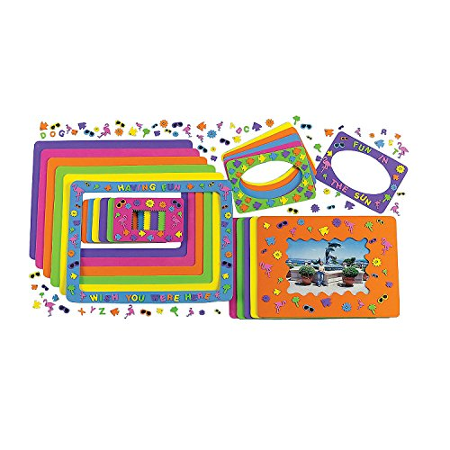 Foam Summer Fun Picture Frames Craft Kits 24 Photo Frames Crafts for Kids and Home Activities