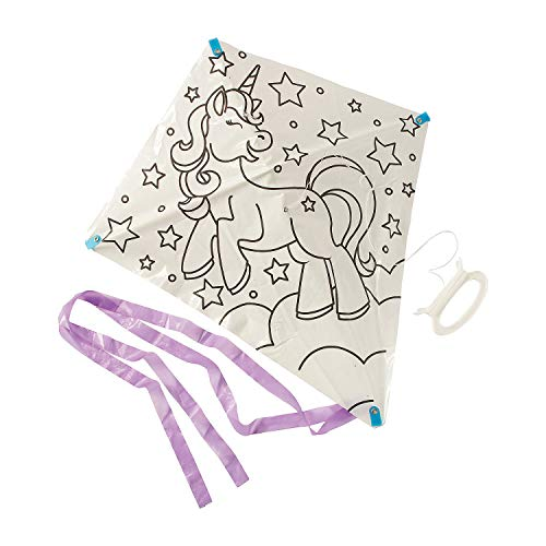 Color Your Own Unicorn Kites – Crafts for Kids and Fun Home Activities