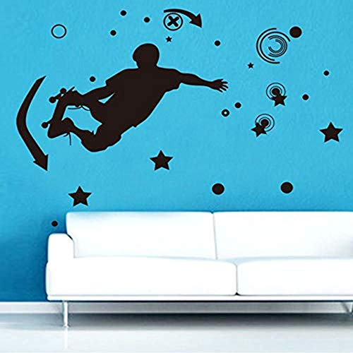 FSDS Wall Vinyl Decal Skateboard Daycare Removable Stickers Nursery Children Bedroom Playroom Art Decor Decals Decorate