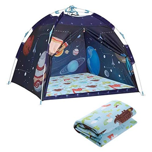 Ai-Uchoice Kids Play Tent Automated Kids Tent Children's Playhouse Pop Up Tents with Moisture-Proof