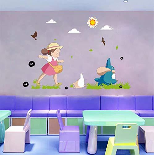 Japanese Kawaii Totoro Wall Art Sticker Adorable Baby Nursery Decor Wallpaper Decal Mural D248S 2362×3543