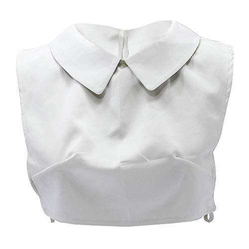 Joyci Woman Girl Doll Peterpan Fake Collar Half Blouse Dickey Preppy OL Detachable Decorate Solid Color B