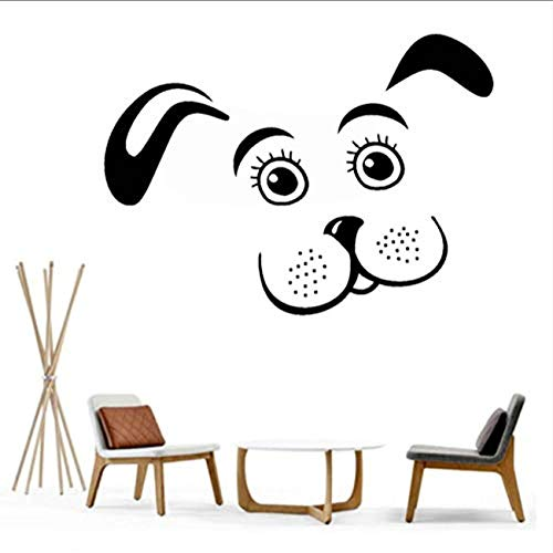 FSDS Wall Vinyl Decal Puppy Dog Pet Animal Kids Room Nursery Stickers Removable Home Decorate Cute Art Sticker Paper