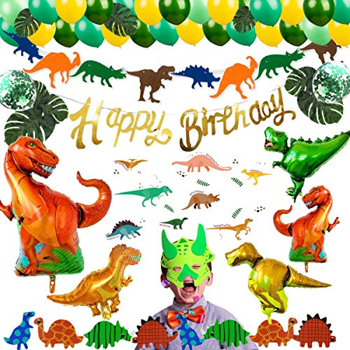 85 Pack Dinosaur Birthday Party Supplies Baby Dino Decorations Set Favor – Balloons Cake Topper for Christmax Gift Shower