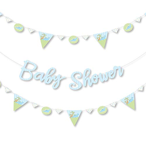 Big Dot of Happiness Baby Boy Dinosaur – Shower Letter Banner Decoration 36 Cutouts and Letters