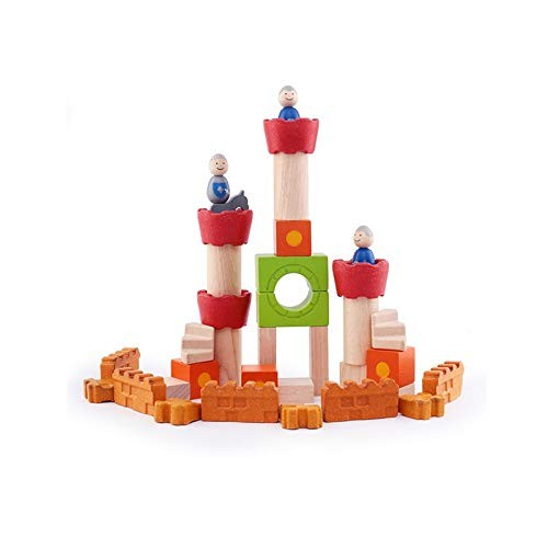 Lxrzls Wooden Building Blocks-Colored Educational Toy for Toddlers with Different Shapes-Geometric Sorter Board Blocks -Preschool Education Toddler Children