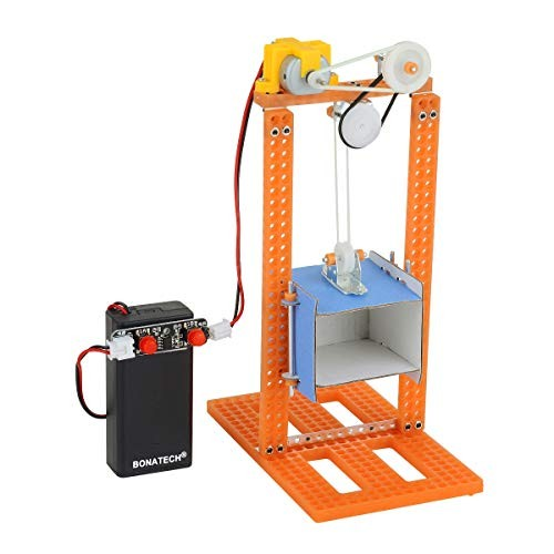 BONATECH STEM Assembling Toys Science Experiment Kit Children's Maker Education Technology Small Production Creative Gifts to Children Wire-Controlled Elevator