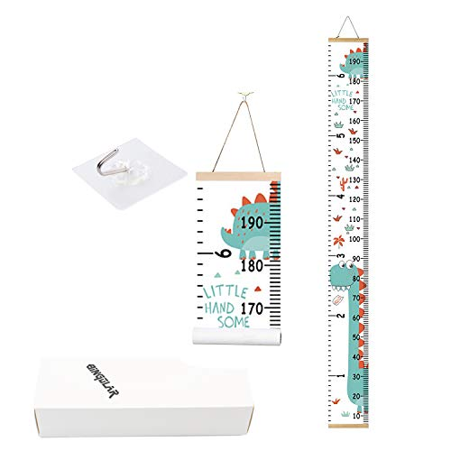 Bingolar Kids Growth Chart Children Height Wall Art Hanging Rulers for Bedroom Nursery Decor Removable and Chart K79 x 79in