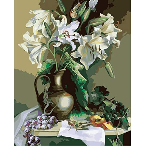 Jigsaw Puzzle 1000 Piece Lily Flower Grape Still Life DIY Europe Decorati for Living Room Classic 3D Wooden Toy Gift