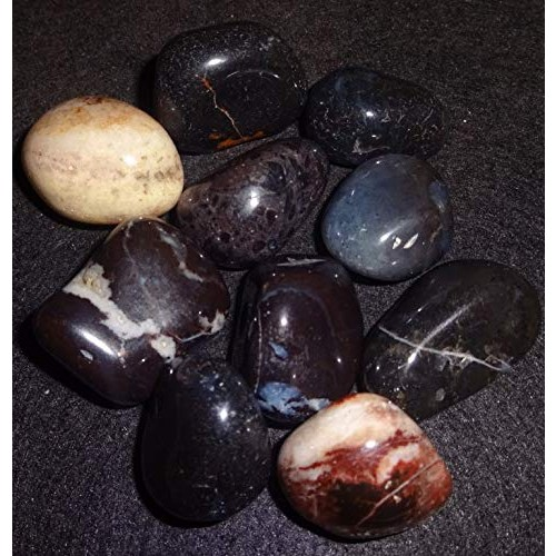 Sublime Gifts 1 4 Lb Black Sardonyx from India Tumbled & Polished Amazing Color Markings Healing Crystal Gemstone Collectible or Wrapping Stones