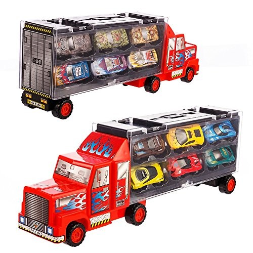 Tuko Car Toys Die Cast Carrier Truck Vehicles Toy for 3-12 Years Old Boy