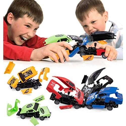 Pidoko Kids Pull Back Crashing Cars – Includes 6 Crash Burst Cars – Gifts