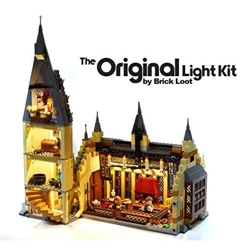 Brick Loot LED Lighting Kit for Lego Harry Potter Hogwarts Great Hall – 75954 Lego Set NOT Included