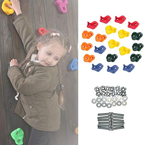 IFOYO Rock Climbing Holds for Kids 20 Large Climbing Rocks for Indoor Outdoor Playground