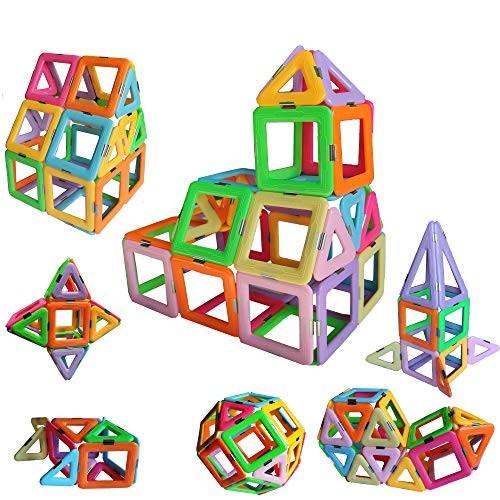 dreambuilderToy Magnetic Tiles Building Blocks Game Set Toys 40 PC Set Pastel Color