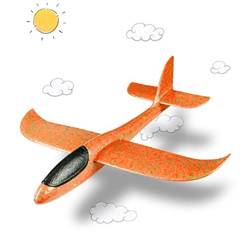 Refasy Airplane Toys for 3-12 Year Old Children Glider Model Foam Airplane