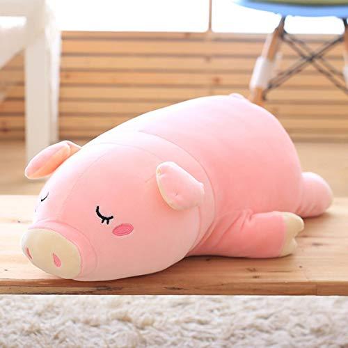 Gianthairball Pig Plush PillowPiggy Soft Hugging Pillow Funny Cute Stuffed Animal Toys Christmas Birthday Girlfriend Gift 27''
