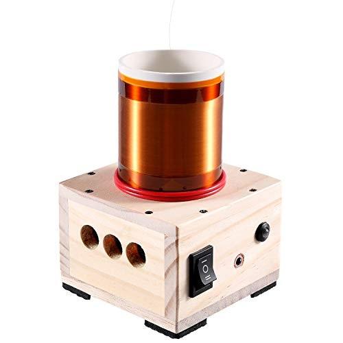 JZENT Music Tesla Coil Desktop Toy Plasma Loudspeaker Arc Generator Wireless Transmission Teaching Demonstration Experiment Model JE-01