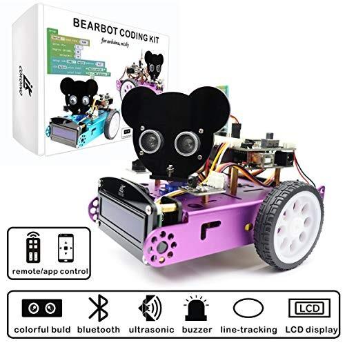 LK COKOINO DIY Robot Car for Arduino Coding Robotics Kids & Adults IR Bluetooth Control
