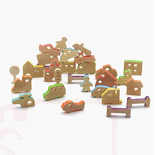 Tagke Story Korean Version of The Puzzle Balance Building Blocks Wooden Toys Souvenir Gifts Baby Boys and Girls Color D