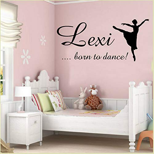 Aisufen Eco-Friendly Art Dancing Girl Text Wall Stickers Decorate Children's Room Nursery Office Removable Sticker 12057Cm