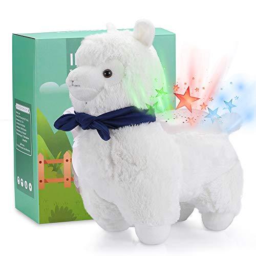 Llama Gifts 134 Stuffed Animal Star Night Light Projector Cute Fluffy Plush Alpaca for Girls Babies Kids Teen Boys Decor with Funny Accessory Christmas & New Year – InnoBeta