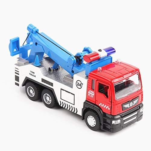 LLSDLS Car Model Toy 1 32 City Engineering Series Road Fault Rescue Trailer Desktop Decoration Gift Children's Toys
